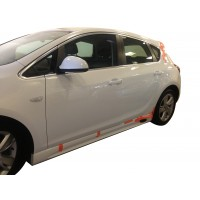 Opel Astra J HB 2013 - 2015 Yan Marşpiyel Seti (Plastik)