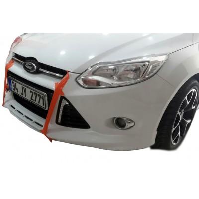 Ford Focus 3 HB Sedan Uyumlu 2012 - 2014 Ön Tampon Ek (Plastik)