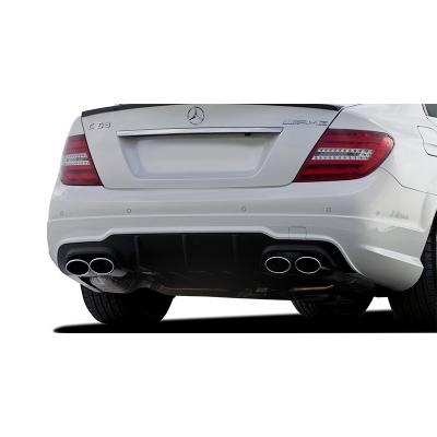 Mercedes C Serisi W204 (2012-2014) Makyajlı Arka Tampon Eki - Difüzör (Plastik)