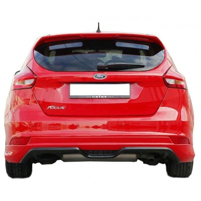 Ford Focus 3 HB Makyajlı (2015-2018) Arka Tampon Eki - Difüzör  (Plastik)