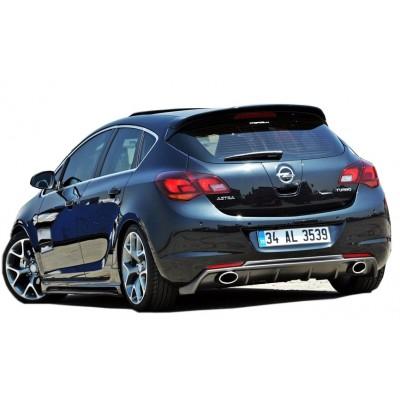 Opel Astra J HB (2013-2015) Makyajlı Arka Tampon Eki - Difüzör (Plastik)
