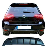 Volkswagen Golf 7 2012 - 2016 Arka Tampon Eki - Difüzör (Plastik)