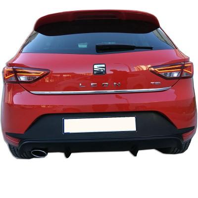 Seat Leon MK3 - 5F (2013-2016) Style Uyumlu Arka Tampon Eki - Difüzör (Plastik)