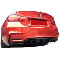 BMW 4 Serisi F82 M4 Vorsteiner Arka Tampon Eki - Difüzör (Fiber)