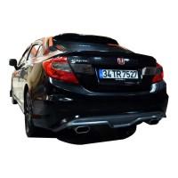 Honda Civic FB7 2012 - 2015 Custom Arka Tampon Eki - Difüzör (Plastik)