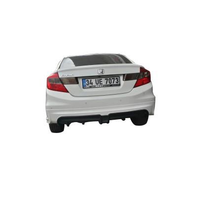 Honda Civic FB7 2012 - 2015 Mugen RR Arka Tampon Eki - Difüzör (Plastik)