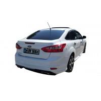 Ford Focus 3 Sedan Arka Tampon Eki - Difüzör (Plastik)