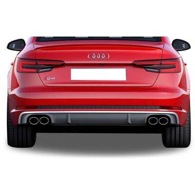 Audi A4 B9 2016 Sonrası 4 Çıkışlı S4 Arka Tampon Eki - Difüzör (Plastik)
