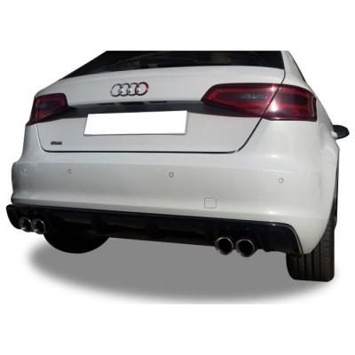 Audi A3 8V 2012 - 2016 Plastik Arka Tampon Eki - Difüzör (Plastik)