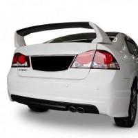 Honda Civic FD6 (2006-2011) Mugen Arka Tampon Eki - Difüzör (Plastik)