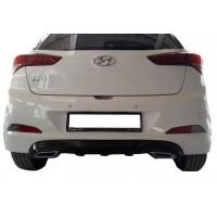 Hyundai İ20 (2014-2018) Egzoz Görünümlü Arka Tampon Eki - Difüzör (Plastik)