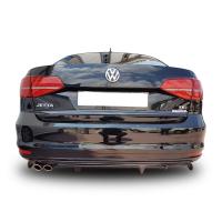 Volkswagen Jetta 6 2015 - 2017 Makyajlı R Arka Tampon Eki - Difüzör (Plastik)