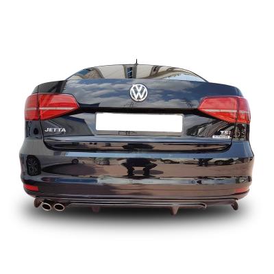 Volkswagen Jetta 6 (2015-2017) Makyajlı R Arka Tampon Eki - Difüzör (Plastik)
