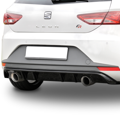 Seat Leon MK3 (2013-2016) FR Arka Tampon Eki - Difüzör (Plastik)