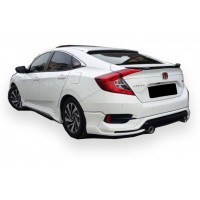 Honda Civic FC5 2016 Sonrası Turbo Arka Tampon Eki - Difüzör (Plastik)