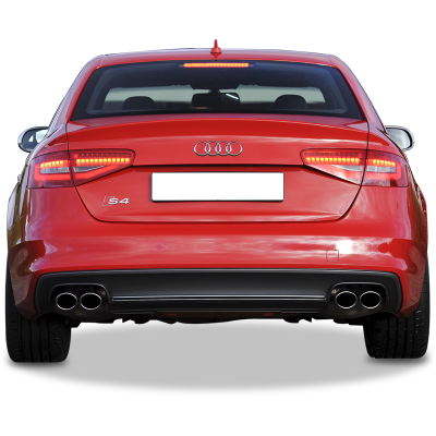 Audi A4 2013-2015 S4 Arka Tampon Eki - Difüzör  (Taiwan)