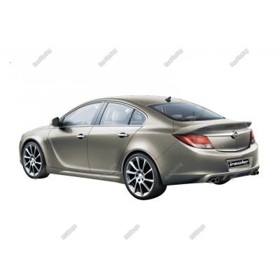 Opel İnsignia (2009-2013) İrmscher Arka Tampon Eki - Difüzör (Fiber)