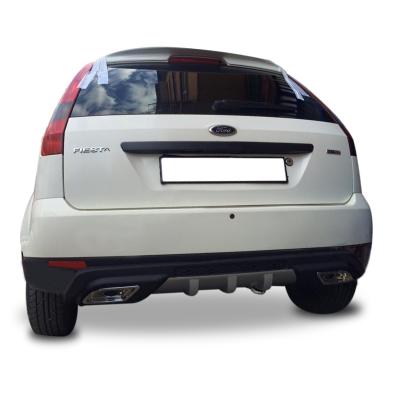 Ford Fiesta 2 Egzoz Görünümlü Universal Arka Tampon Eki - Difüzör (Plastik)