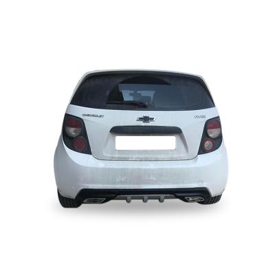 Chevrolet Aveo HB Egzoz Görünümlü Universal Arka Tampon Eki - Difüzör (Plastik)
