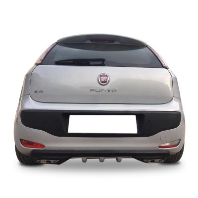 Fiat Punto Evo Egzoz Görünümlü Universal Arka Tampon Eki - Difüzör (Plastik)