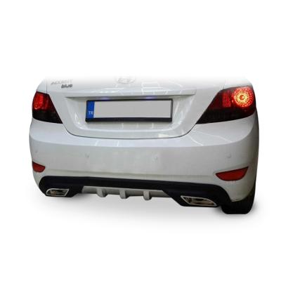 Hyundai Accent Blue Egzoz Görünümlü Universal Arka Tampon Eki - Difüzör (Plastik)
