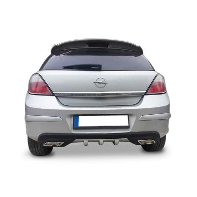 Opel Astra H Egzoz Görünümlü Universal Arka Tampon Eki - Difüzör (Plastik)