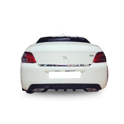 Peugeot 301 Egzoz Görünümlü Universal Arka Tampon Eki - Difüzör (Plastik)
