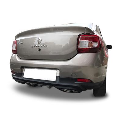 Renault Symbol Egzoz Görünümlü Universal Arka Tampon Eki - Difüzör (Plastik)