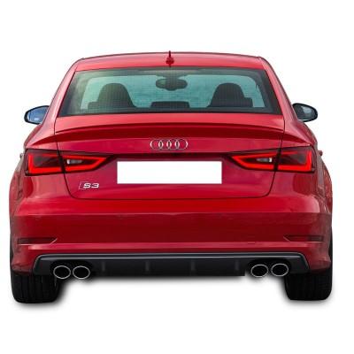 Audi A3 8V Sedan 2012 - 2016 S-Line S3 Arka Tampon Eki - Difüzör (Plastik)