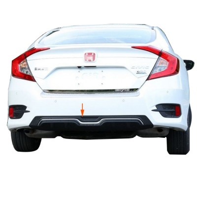 Honda Civic FC5 Sedan (2015-2018) Modulo Arka Tampon Eki - Difüzör (Plastik)