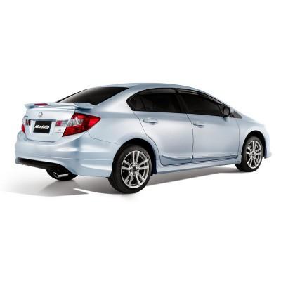 Honda Civic FB7 (2012-2016) Modulo Black Edition Arka Tampon Eki - Difüzör (Plastik)