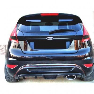 Ford Fiesta (2009-2016) Izgaralı Arka Tampon Eki - Difüzör (Plastik)
