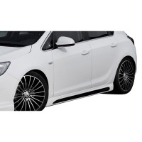 Opel Astra J HB 2011 - 2015 Custom Yan Marşpiyel Seti (Plastik)
