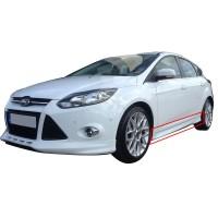 Ford Focus 3 HB 2012 - 2014 Yan Marşpiyel Seti (Plastik)