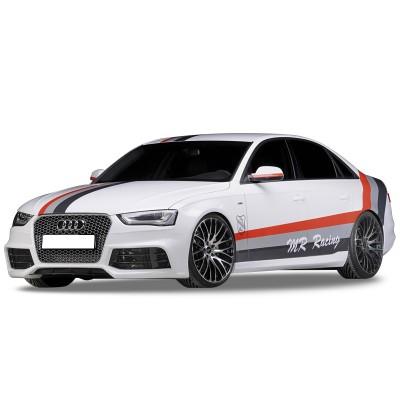 Audi A4 B8 2008 - 2012 RS4 Yan Marşpiyel Seti (Plastik)
