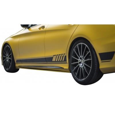 Mercedes C Serisi W205 (2015-2018) AMG Yan Marşpiyel Altı Lip (Plastik)
