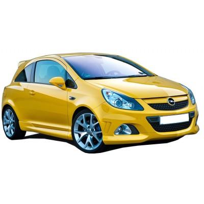 Opel Corsa D (2007-2015) OPC 2 kapılı (Coupe) Yan Marşpiyel Seti (Plastik)