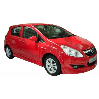 Opel Corsa D (2007-2015) OPC Line Yan Marşpiyel Seti (Plastik)