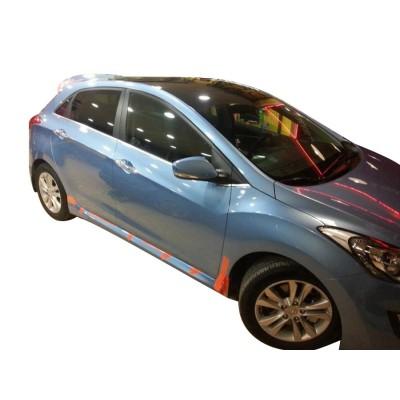 Hyundai i30 (2011-2016) Custom Yan Marşpiyel Seti (Plastik)