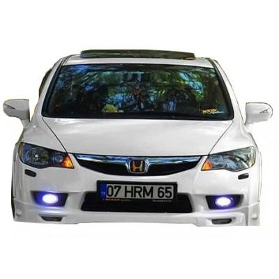 Honda Civic FD6 Mugen 2010 - 2011 Makyajlı Ön Tampon Ek (Plastik)
