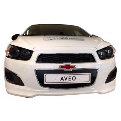 Chevrolet Aveo HB - Sedan Uyumlu 2012 Sonrası Ön Tampon Ek (Fiber)