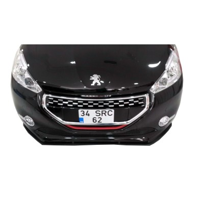 Peugeot 208 Ön Tampon Altı Lip (Plastik)