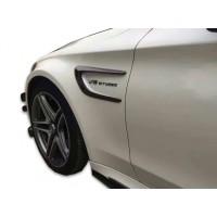 Mercedes C Serisi W205 (2015-2018) Çamurluk Kaşları Plastik (Piano Black)