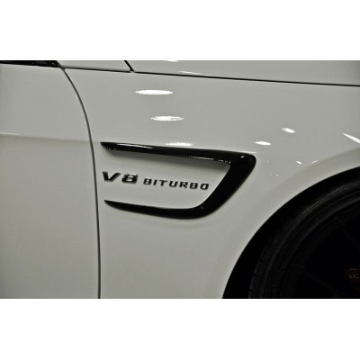 Mercedes E Serisi W212 Çamurluk Kaşları Plastik (Piano Black)