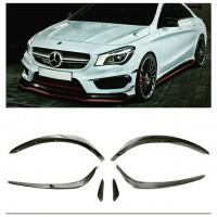 Mercedes CLA Serisi AMG Ön Tampon Kaşları (6 Parça)