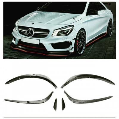 Mercedes CLA Serisi AMG (2012-2015) Ön Tampon Kaşları (6 Parça)