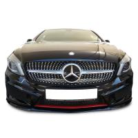 Mercedes CLA Serisi W117  2013 Sonrası Diamond Gri Ön Panjur (Plastik)