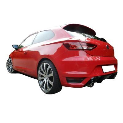 Seat Leon MK3 - 5F (2013-2016) SC 2 Kapı Spoiler (Fiber)