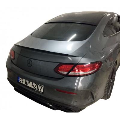 Mercedes C Serisi W205 Coupe (2015-2018) C63 Amg Cam Üstü Spoiler (Plastik - Taiwan)